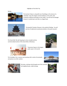Highlights of the 2016 Trip Beijing: The Summer Palace is a