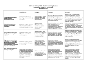 CWSLO_Rubric_Information Literacy & Technology