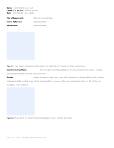 Oxidation Report Template