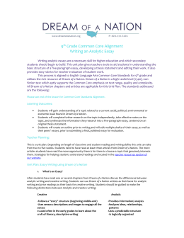 ela winter dreams essay unit plan dream of a nation