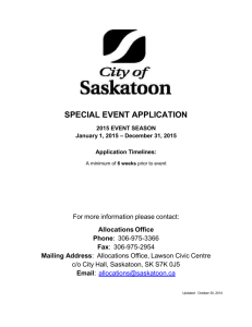 special event application form