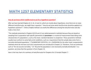 Summary for Chapters 8