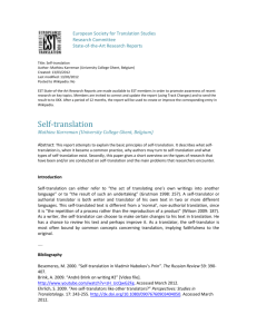 research_template - European Society for Translation Studies