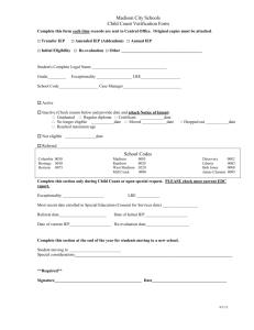 Child Count form