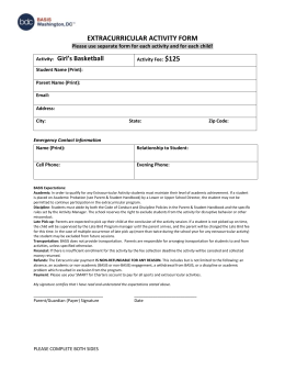 extracurricular activity form