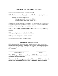 checklist for beginning fieldwork - Saint Vincent College Education