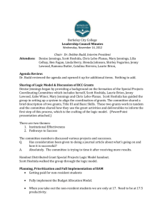 Leadership Council Meeting Minutes – 111412 – Final
