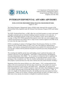 fema extends preferred risk policy