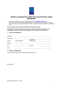 IBSA Medical Diagnostic Form