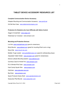 Tablet Device Accessory Resource List
