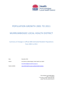 Population Growth in MLHD - Murrumbidgee Local Health District
