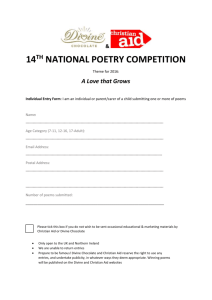 14 th national poetry competition