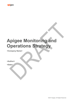 Monitoring and Operations Strategy