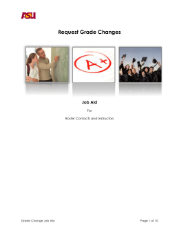 Request a grade change as an Instructor