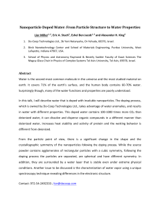 Nanoparticle Doped Water: From Particle Structure to Water Properties