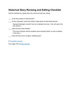 Historical Story Revising and Editing Checklist