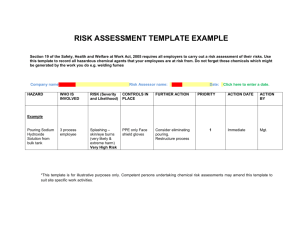 Risk Assessment Template - Health and Safety Authority