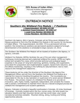 Southern Ute Wildland Fire Module – 7 Positions