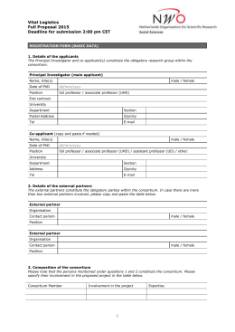 Vital Logistics | application form
