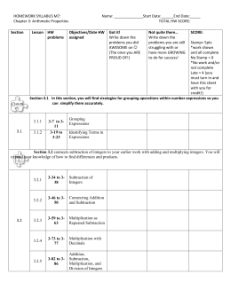 HW Syllabus CH3 - Buckeye Valley