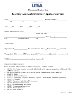 TA and Grader Application Form