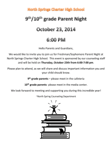 9th and 10th parent night flyer