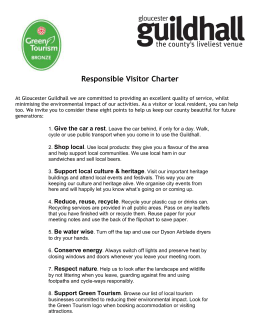 Responsible Visitor Charter.