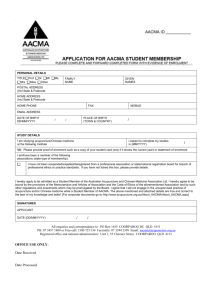 fillable Student Member Application Form in Word