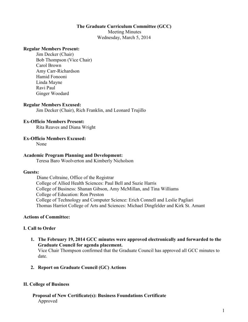 Certificate Programs - East Carolina University