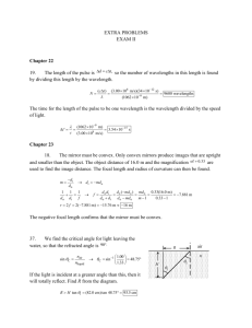 Solutions Extra Problems Exam 2