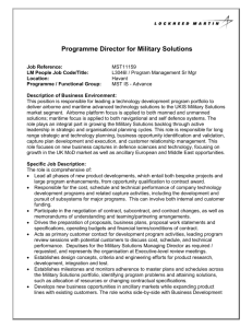 Programme Director for Military Solutions