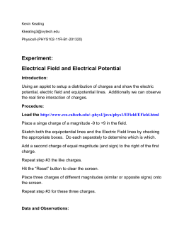 Electrical Field and Electrical Potential Lab - Ivy Tech -
