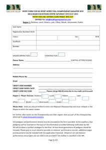 Entry Form - Mullingar Equestrian Centre