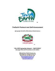 TruEarth Certified Protocol and Self Assessment (.doc)