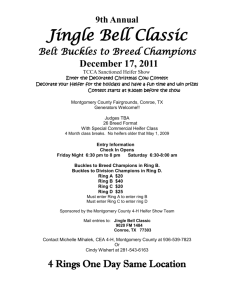 9th Annual Jingle Bell Classic Belt Buckles to Breed
