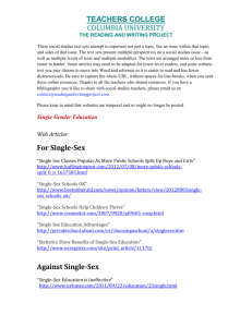 Against Single-Sex - The Reading & Writing Project