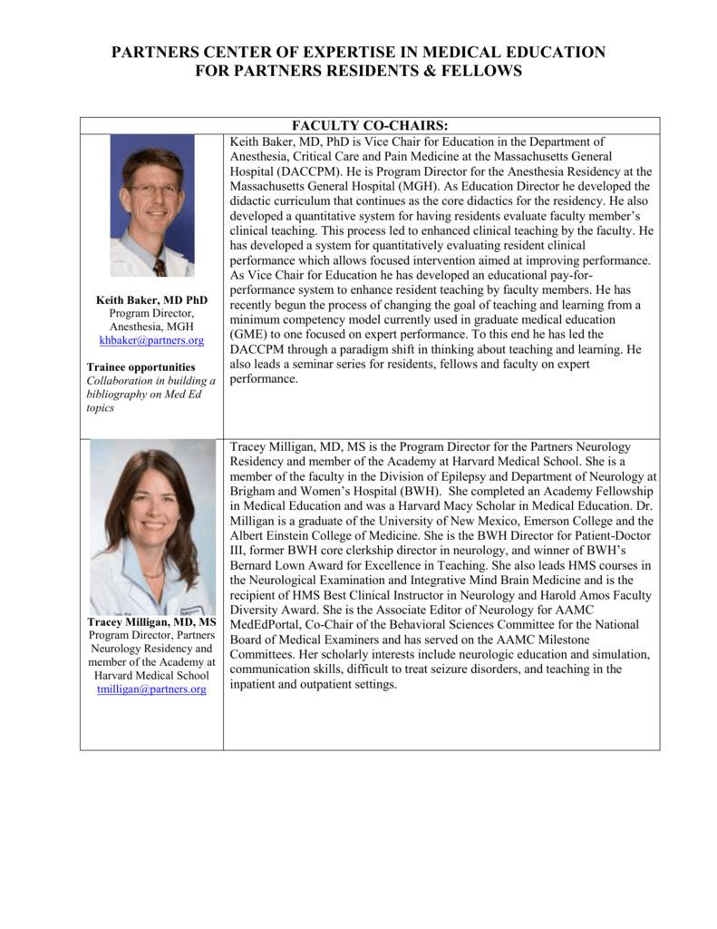 Faculty Bios - Partners HealthCare