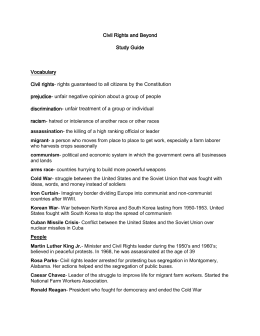 Civil Rights and Beyond Study Guide