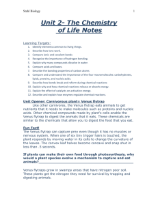 Unit 2- The Chemistry of Life Notes