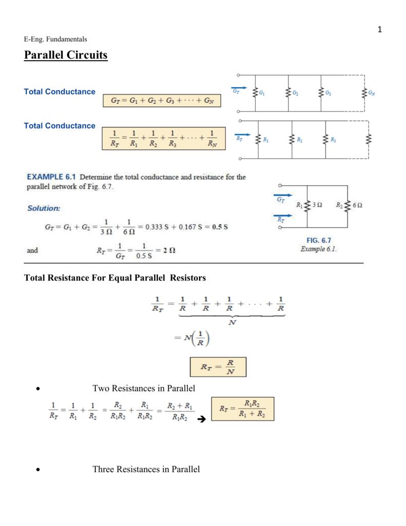 Parallel Circuits Circuit Examples Resistors In Series And Resistor