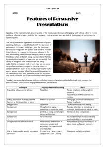 Features of Persuasive Presentations - Broadfield