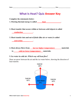 What Is Heat? Post-Quiz Answer Key