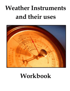 Weather Instruments and their uses Workbook