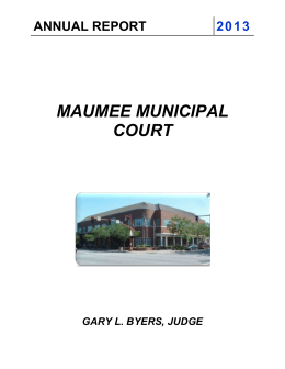 2013 maumee municipal court annual report