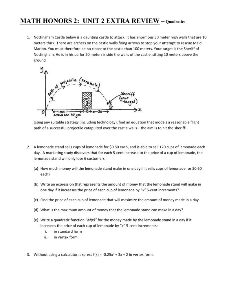 Extra review questions quadratics falaconquin