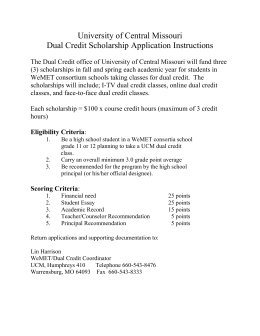 Dual Credit Scholarship Application Instructions