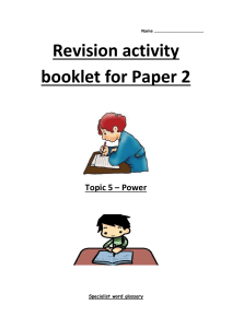 Power Revision Book