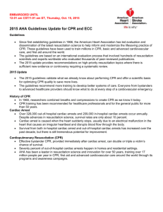 2015 AHA Guidelines Update for CPR and ECC