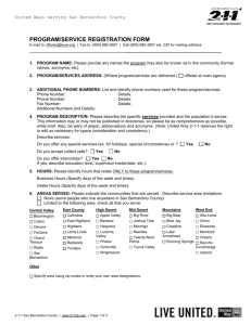 PROGRAM/SERVICE REGISTRATION FORM