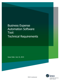 Business Expense Automation Software Tool: Technical
